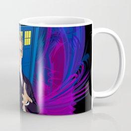 12th Doctor with blue Phone booth Coffee Mug