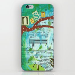Nest and Sing iPhone Skin