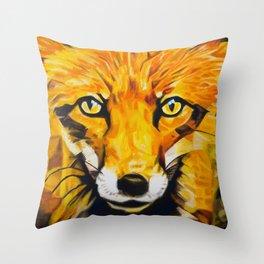 The Eyes Of A Thief - Fox Throw Pillow