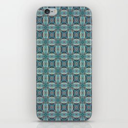 Turquoise Weave Pattern iPhone Skin