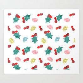 cute mistletoe white Art Print