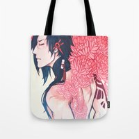 dmmd Tote Bags featuring B L O O M by IdentityPollution
