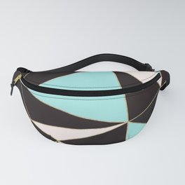 Elegant pink teal black abstract geometrical Fanny Pack