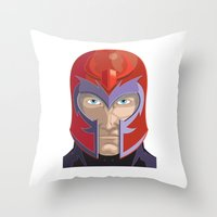 magneto Throw Pillows featuring Magneto by Jconner