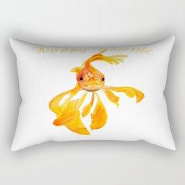Happy Nowruz Persian New Year Goldfish Isolated Rectangular Pillow