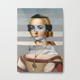 Raphael's Young Woman with Unicorn & Elizabeth Taylor Metal Print