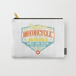 Retro Motorcycle Garage Sign Carry-All Pouch