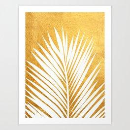 Golden leaf IV Art Print