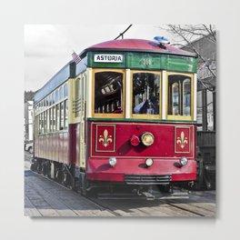 Trolley Streetcar Metal Print