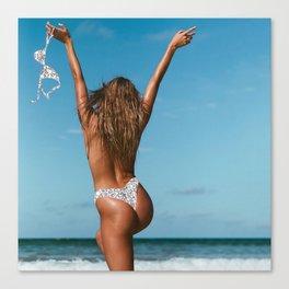 Free the Nipple   Silver Canvas Print