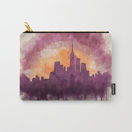 New York Cityscape Watercolor Carry-All Pouch