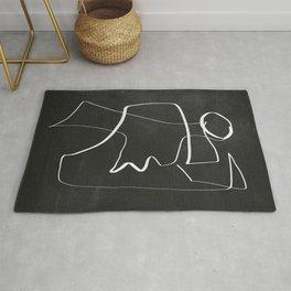 Abstract line art 6/2 Rug