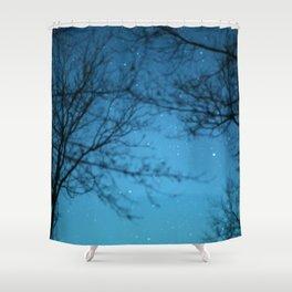 Starry Sky - Night Photography Shot Shower Curtain