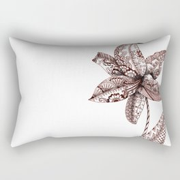 Henna Lily Rectangular Pillow