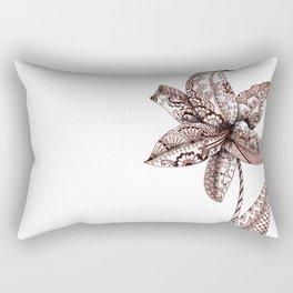 Henna Lily Rectangular Pillow