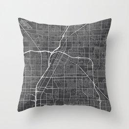 Las Vegas Map, USA - Gray Throw Pillow
