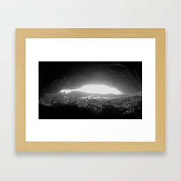 In the Mouth of the Cave Framed Art Print