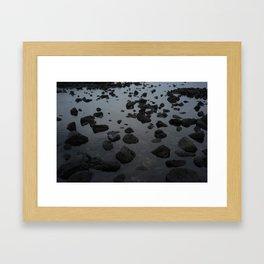 Mirrored Rocks Framed Art Print