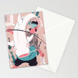 Sir Fish Stationery Cards