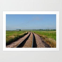 Prairie Tracks Art Print