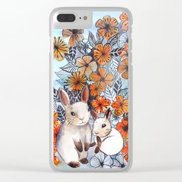 Easter Bunnies Clear iPhone Case