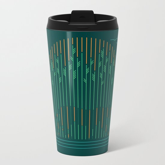 Tiger In The Grass Metal Travel Mug