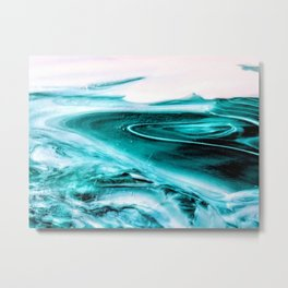 Marble Like Water Metal Print