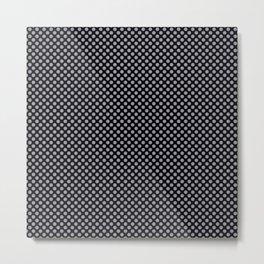 Black and Lilac Gray Polka Dots Metal Print