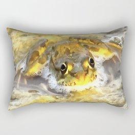 Frog In Deep Water Rectangular Pillow