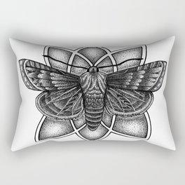 Moth Mandala Rectangular Pillow