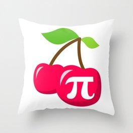 Cherry Pi - Pi Day Math Geek Nerd design Throw Pillow
