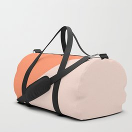 Bright Orange & Nude pink - oblique Duffle Bag