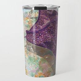 Colorful Ocean Manta Ray Travel Mug