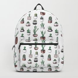 Cactus + Succulents Rose Gold Pattern by Nature Magick Backpack