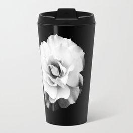 Black and White Rose Blossom... Travel Mug
