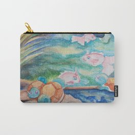 Pond With Squirtle And Goldeen Carry-All Pouch