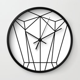 White Corset Wall Clock