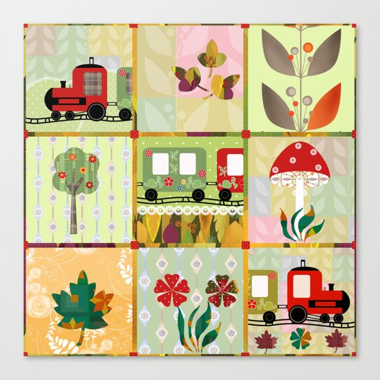 Children's Dominoes. Cubes. Canvas Print