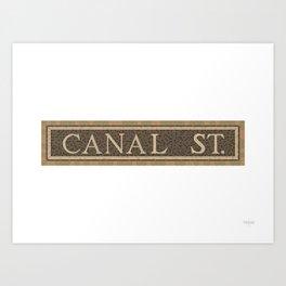 Canal Street Art Print