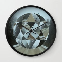 Geometric Road Wall Clock
