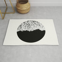Ocean Yin Yang - Minimalist Black and White Photography Rug