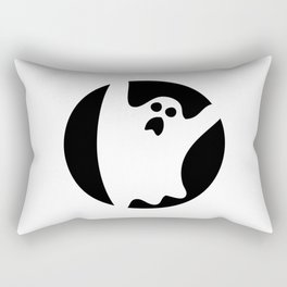 ghosty black Rectangular Pillow