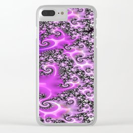 Pink Lace  Clear iPhone Case