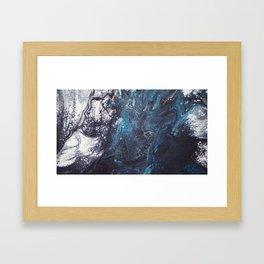 Icy crust Framed Art Print