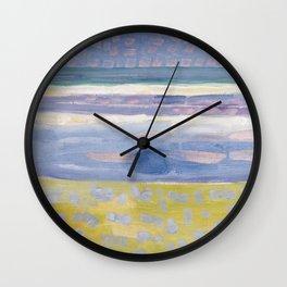 Sea after sunset by Piet Mondrian, 1909 Wall Clock