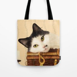 Molly and her Picnic Basket Tote Bag