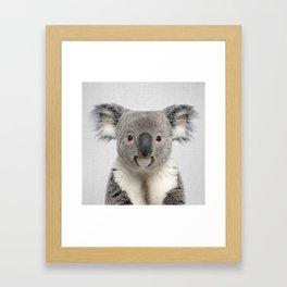 Koala 2 - Colorful Framed Art Print