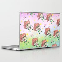 sailor jupiter Laptop & iPad Skins featuring Sailor Jupiter Pattern by Neo Crystal Tokyo