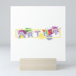 """Painting Shirt For Painters """"Artist"""" Tools T-shirt Design Portrait Landscape Paintbrush Scissor Mini Art Print"""