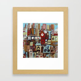 City, City Framed Art Print
